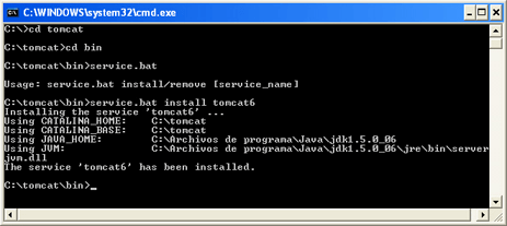 Instalar Tomcat en un equipo con Microsoft Windows de forma manual