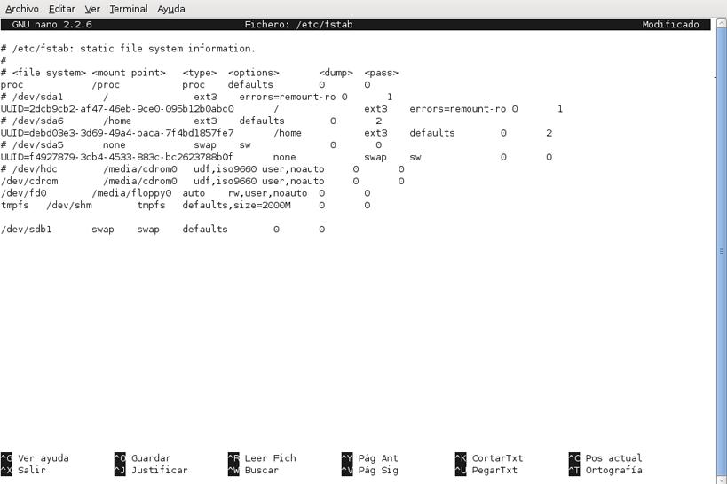Activar partición swap de intercambio para que el sistema operativo Linux la use