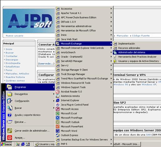 Configuración Microsoft Exchange Server 2003