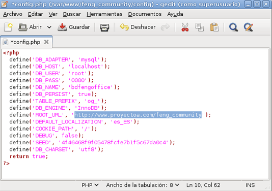 Instalar Feng Office en un equipo con GNU Linux Debian, Apache, PHP y MySQL