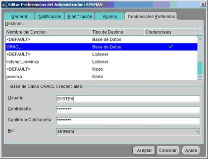 Instalación y configuración de Oracle Management Server