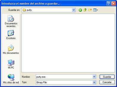 Xming servidor X para Windows mediante SSH y GNU Linux - Descarga e instalación de PuTTY