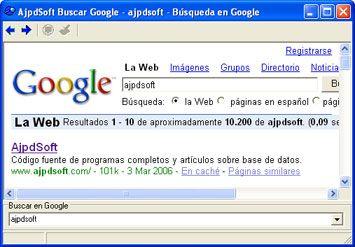 AjpdSoft Buscar en Google  Código Fuente Delphi 6