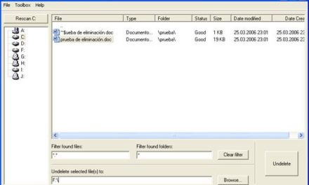 Cómo recuperar un fichero eliminado