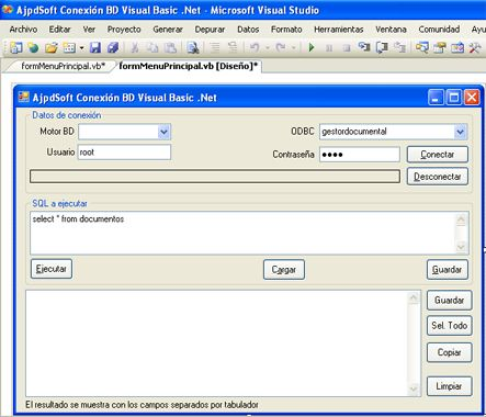 Acceso a MySQL mediante Visual Basic .Net y ODBC