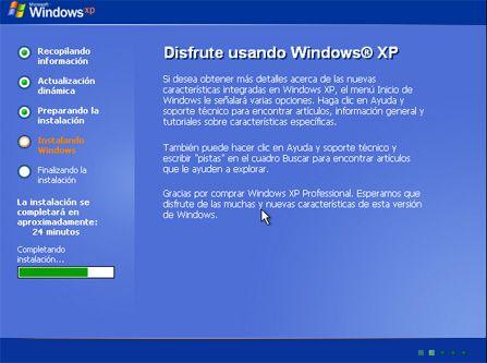 Instalar Windows XP Service Pack 3, configurar Windows XP