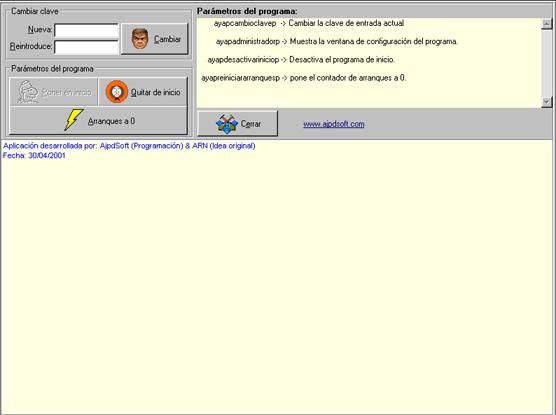AjpdSoft Clave acceso Windows 9x