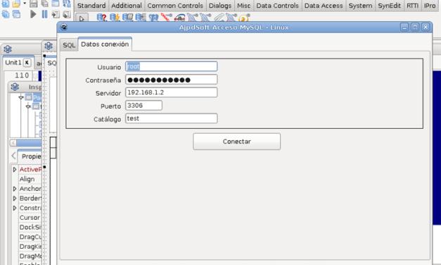 AjpdSoft Acceso MySQL Linux código fuente Lazarus