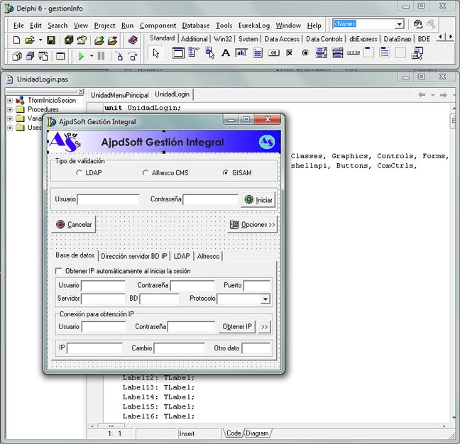 Formulario inicio sesión en Delphi y MySQL validar usuario en LDAP