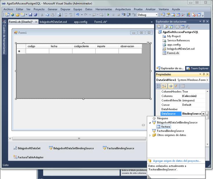 Instalar Visual Studio 2010 y desarrollar aplicación con acceso a PostgreSQL