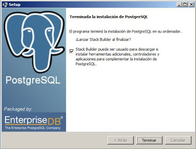 Instalar PostgreSQL 9 x64 en Windows Server 2008 x64, acceso Access ODBC