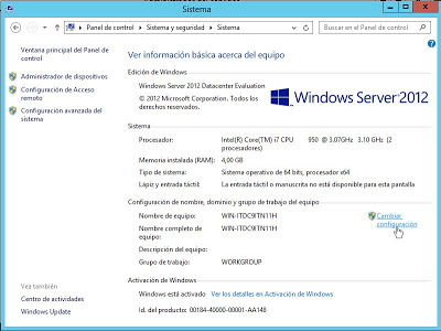 Instalar Windows Server 2012 Datacenter x64