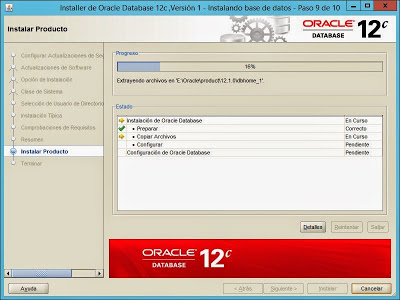 Instalar Oracle Database 12c Release 1 x64 en Windows Server 2012 x64