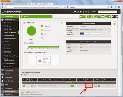 Añadir monitor de número de páginas imprimidas en Pandora FMS mediante SNMP