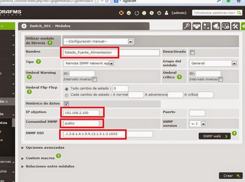 Monitorizar switch Cisco mediante SNMP y Pandora FMS