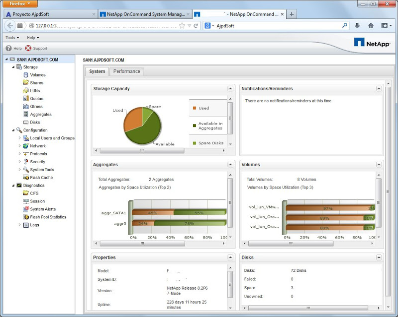 Administración SAN NetApp mediante NetApp OnCommand System Manager 3.1.2