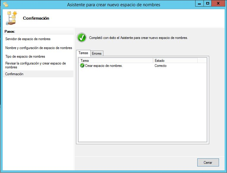 Montar servidor DFS Sistema de archivos distribuido en Windows Server 2012 R2