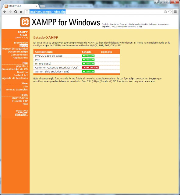 Montar un servidor web y un sitio web en Windows 7 con XAMPP y WordPress