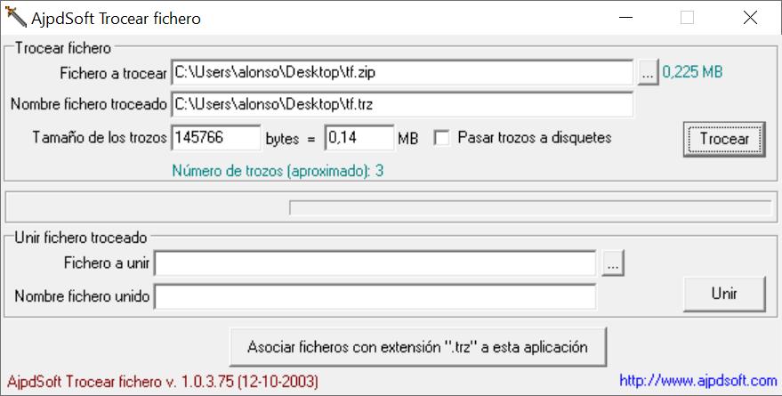 AjpdSoft Trocear fichero