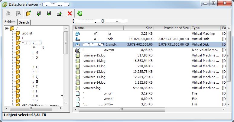 Escenario de trabajo inicial, disco duro virtual lleno y vaciado de disco en Windows Server 2012