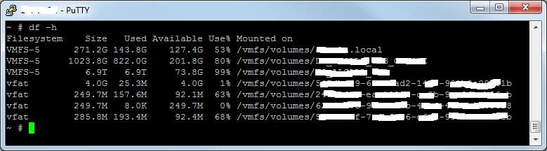 Reclamar espacio no usado en datastore de VMware ESX con máquina virtual Windows Server 2012