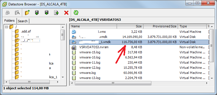 Reclamar espacio no usado en datastore de VMware ESX y máquina virtual Windows Server 2012