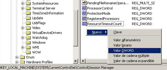 Solución al error muchos eventos con ID 333 en visor de sucesos en Windows Server 2003