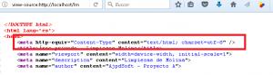 Establecer el juego de caracteres en el encabezado de todos los ficheros HTML