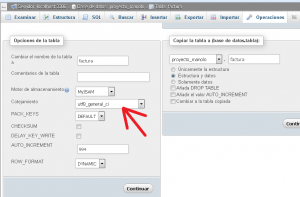 Configurar la base de datos MySQL o MariaDB, las tablas y los campos de las tablas a utf8
