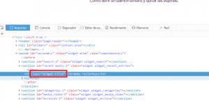 Identificar el nombre de la clase CSS a aplicar un nuevo estilo visual en nuestro sitio web WordPress