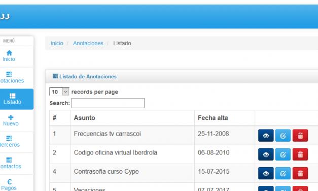Framework ProyectoA PHP