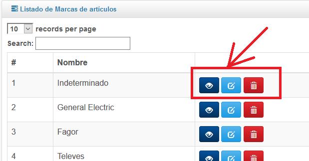Botón de acción en Framework ProyectoA PHP
