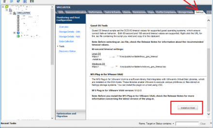 Instalar plugin NetApp NFS Plug-in VAAI en un clúster VMware vCenter mediante VSC Virtual Storage Console