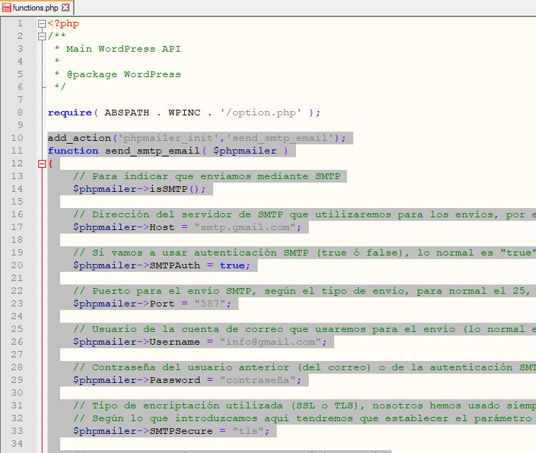 Envío de correos electrónicos desde WordPress sin usar plugin de terceros ni la función mail del servidor PHP