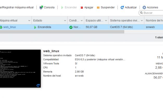 Instalar VMware Tools y Open VMware Tolls en máquina virtual con Linux CentOS 7 minimal sobre VMware ESXI 6.5