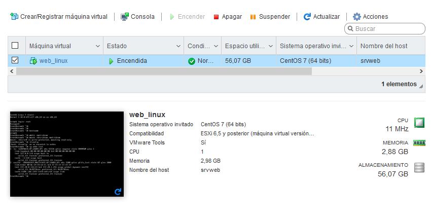 Instalar VMware Tools y Open VMware Tools en máquina virtual con Linux CentOS 7 minimal sobre VMware ESXI 6.5