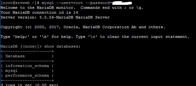 Instalar MySQL - Maria DB (Base de datos) en Linux CentOS 7 Minimal