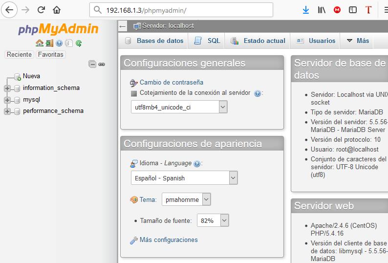Instalar phpMyAdmin para administrar el servidor de MySQL - MariaDB vía web