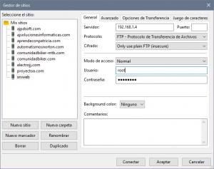 Acceso a servidor FTP Linux usando Filezilla Client desde equipo Windows