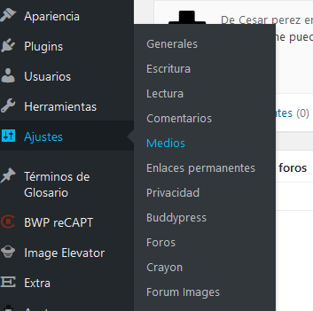 Configuración de WordPress para establecer carpeta de uploads