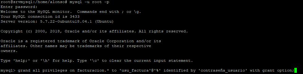 Configuración del usuario de MySQL para acceso externo