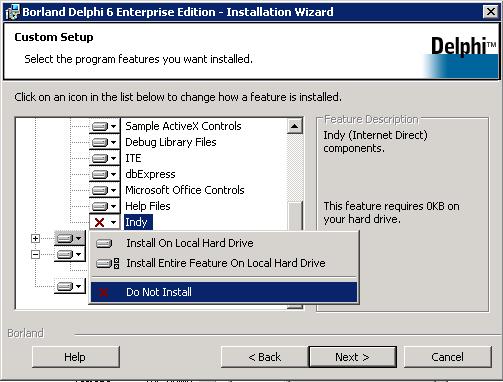 Desinstalar Indy 9 (o cualquier versión anterior) en Delphi y equipo Windows