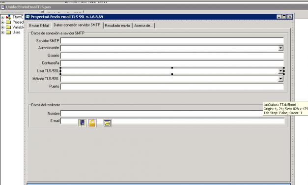 Cómo enviar correos electrónicos e-mails mediante TLS SSL GMail en aplicaciones Borland Delphi 6 e Indy 10