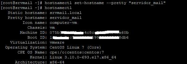 Nombre de red hostname, hosts y DNS en equipo Linux CentOS