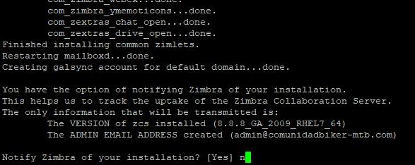 Montar servidor de correo electrónico en producción con Zimbra Open Source sobre Linux CentOS 7