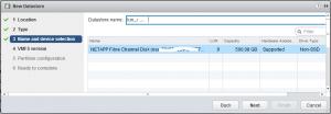 Presentar LUN en VMware (vCenter) a todos los hosts ESX, crear datastore