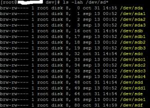 Inicializar y formatear unidad de disco de SAN en Linux CentOS
