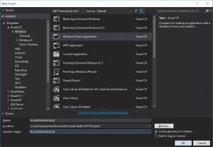 Crear aplicación .Net con acceso nativo a Oracle usando Visual Studio .Net Community y C Sharp C#