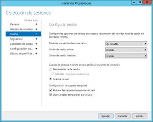 Configurar cierre de sesiones de Escritorio Remoto en estado Desconectado para equipos Windows Server con rol de Escritorio Remoto - Windows Server 2012