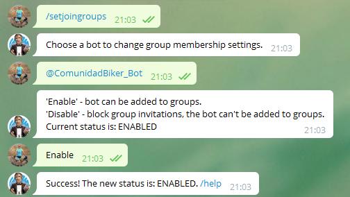 Crear mi primer Bot en Telegram